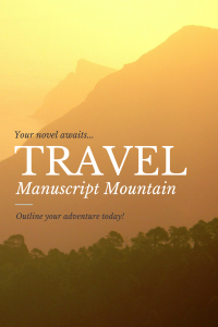 Manuscript Mountain travel poster